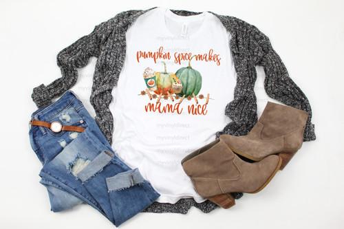 Pumpkin Spice Makes Mama Nice | Cotton Transfer