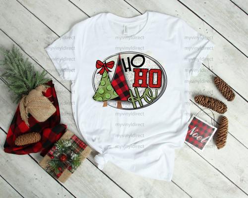 Ho Ho Ho Christmas Trees | Cotton Transfer