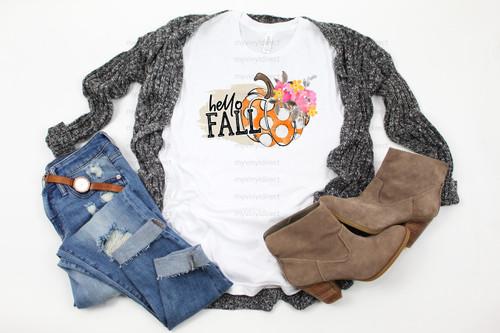 Hello Fall Pumpkin | Cotton Transfer