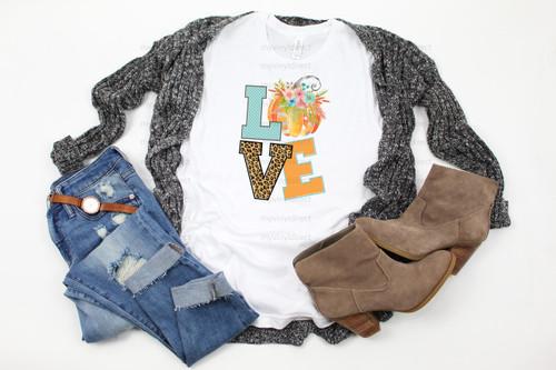 LOVE Pumpkin | Cotton Transfer