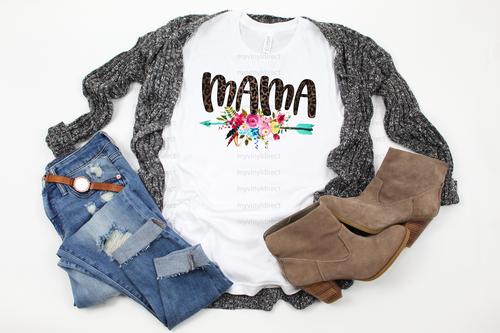 Leopard Mama Arrow | Cotton Transfer