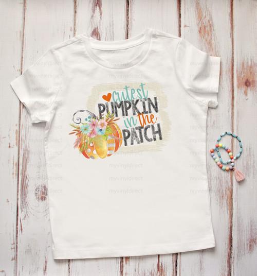 Cutest Pumpkin in the Patch   Cotton Transfer