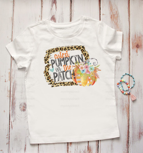 Leopard Frame Cutest Pumpkin in the Patch | Cotton Transfer