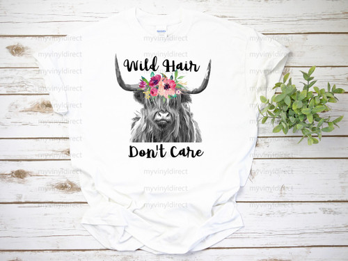 Wild Hair Don't Care   Cotton Transfer