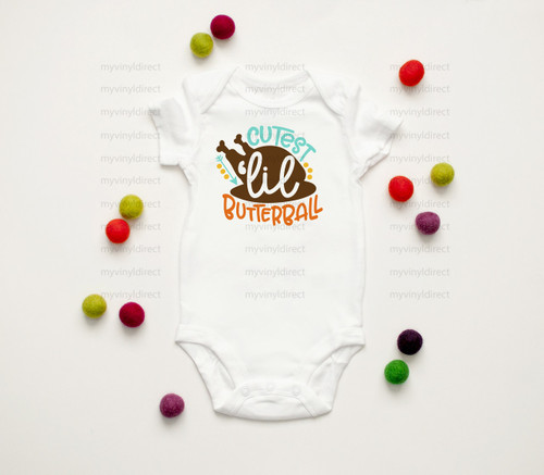 Cutest Lil Butterball | Cotton Transfer