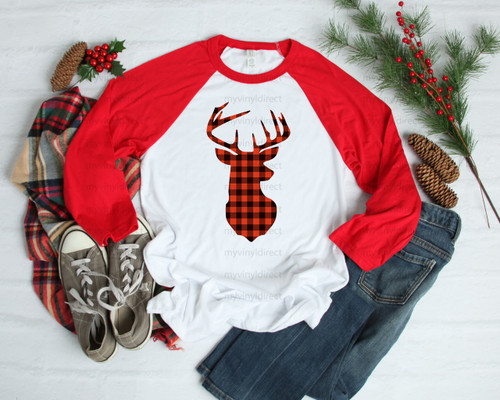 Red and Black Plaid Buck | Cotton Transfer