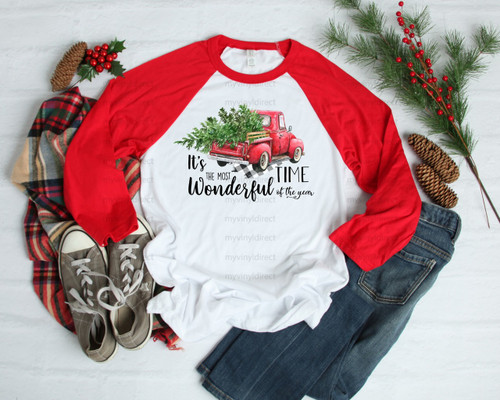 It's The Most Wonderful Time Of The Year Red Truck | Cotton Transfer