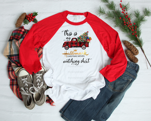 This is my Hallmark Christmas Movies Watching Shirt | Cotton Transfer