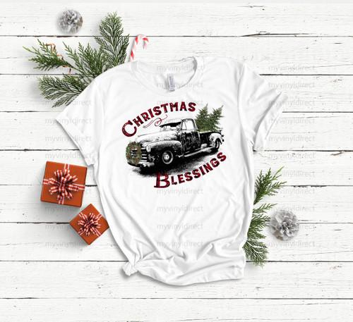 Christmas Blessings Truck   Cotton Transfer