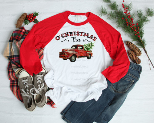 O Christmas Tree Red Truck | Cotton Transfer