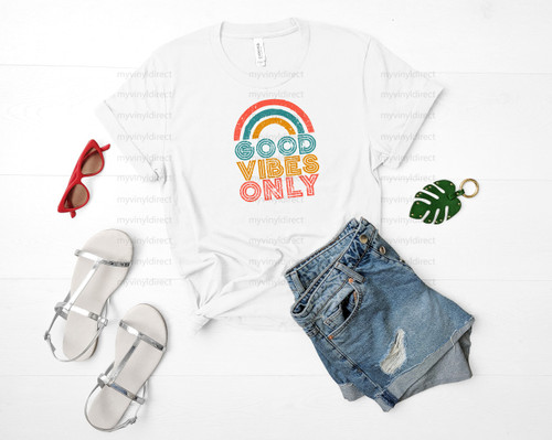 Vintage Good Vibes Only | Cotton Transfer