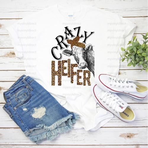 Crazy Heifer Leopard | Cotton Transfer