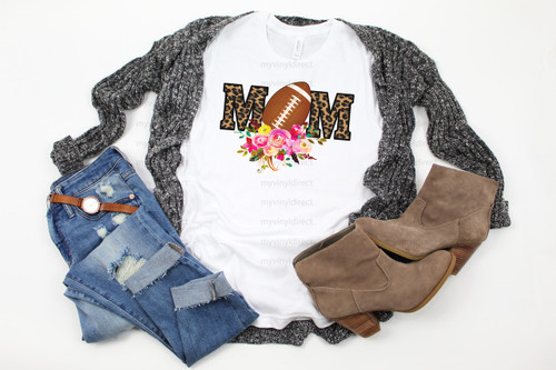 Football Mom Leopard & Floral | Cotton Transfer