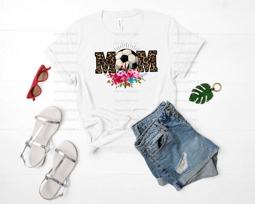 Soccer Mom Leopard & Floral | Cotton Transfer