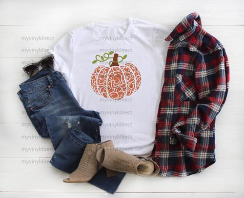 Ornate Pumpkin   Cotton Transfer
