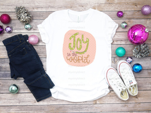Joy To The World with Background | Cotton Transfer