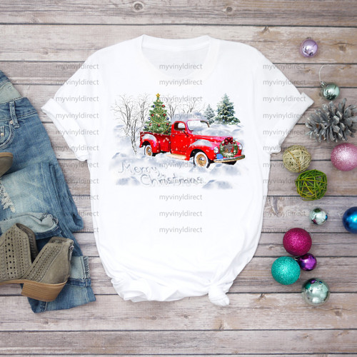 Snowed in Christmas Truck | Cotton Transfer