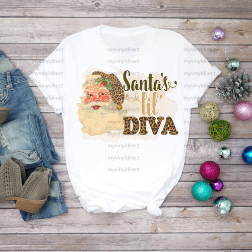 Santa's Lil Diva | Cotton Transfer