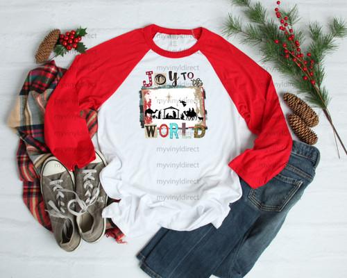 Nativity Joy to the World | Cotton Transfer