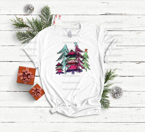 Serape Christmas Trees | Cotton Transfer
