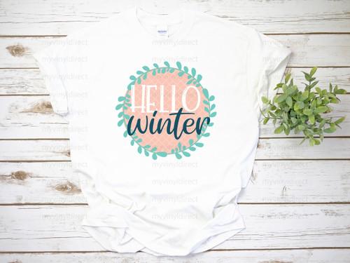 Hello Winter | Cotton Transfer