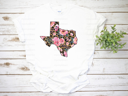 Floral & Flowers Texas   Cotton Transfer