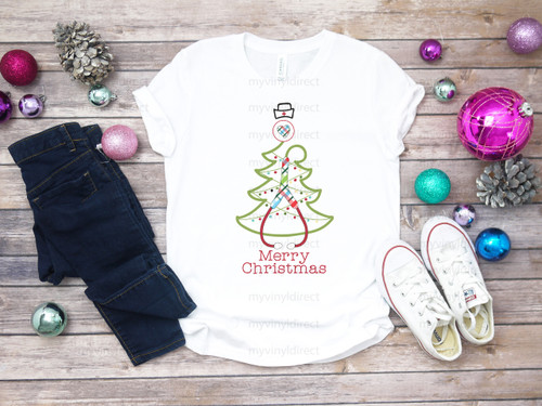 Nurse Stethoscope Christmas Tree| Cotton Transfer