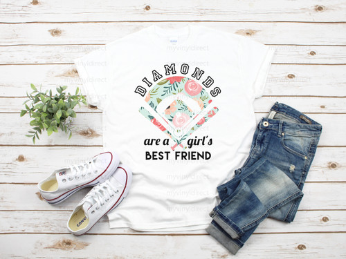 Diamonds Are a Girls Best Friend Baseball | Cotton Transfer