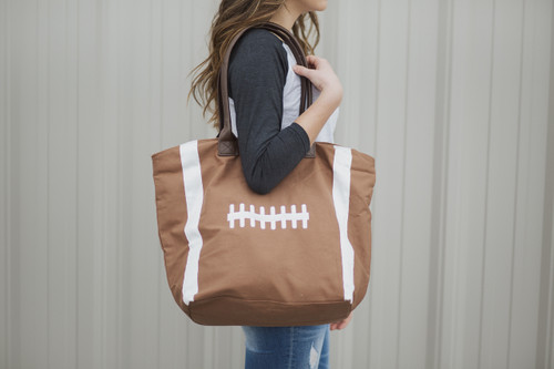 Luxe Embroidered Football Bag