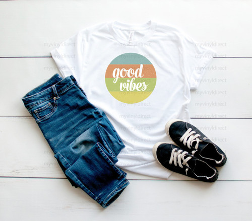 Good Vibes Circle | Cotton Transfer