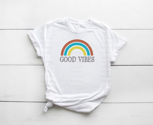 Good Vibes Rainbow | Cotton Transfer