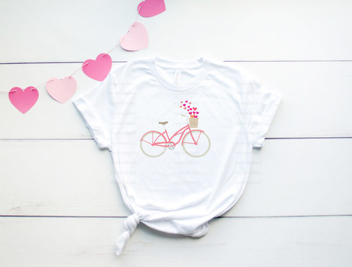Heart Bicycle | Cotton Transfer