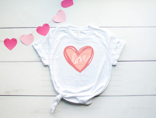 Love Sketch Heart | Sublimation Transfer