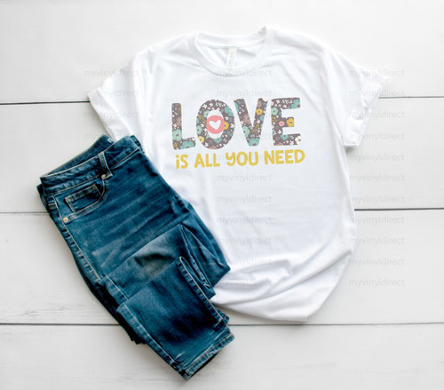 Love Is All You Need | Cotton Transfer