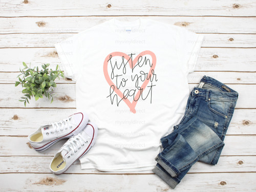 Listen to your Heart | Sublimation Transfer