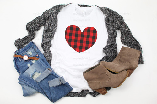 Buffalo Check Heart | Cotton Transfer