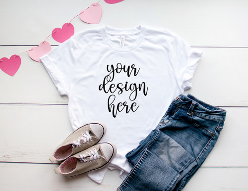 Style #1 Valentine Tee Bella Canvas 3001 Unisex Mock Up/Flat Lays DIGITAL FILES