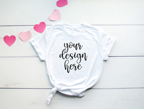 Style #3 Valentine Tee Bella Canvas 3001 Unisex Mock Up/Flat Lays DIGITAL FILES
