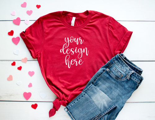 Style #6 Valentine Tee Bella Canvas 3001 Unisex Mock Up/Flat Lays DIGITAL FILES