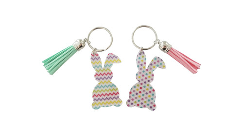 Easter Bunny Acrylic Key Chains   2 Styles