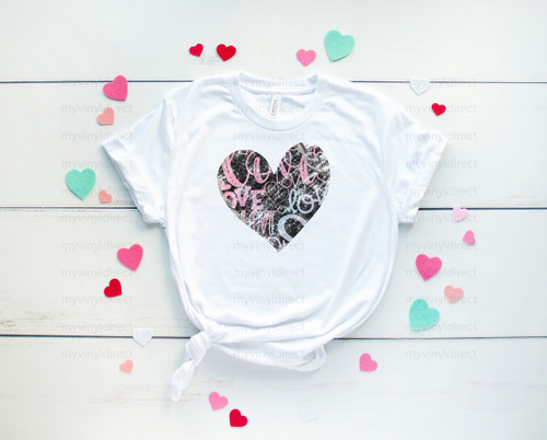 Valentine Graffiti Heart | Sublimation Transfer