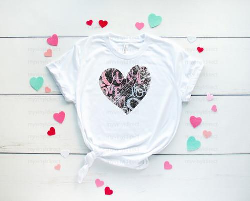 Valentine Graffiti Heart | Cotton Transfer