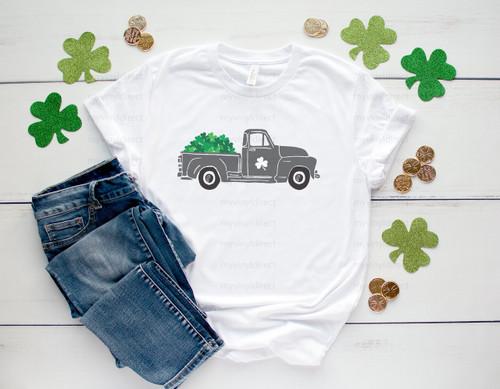 Shamrock St. Patrick's Day Truck   Sublimation Transfer