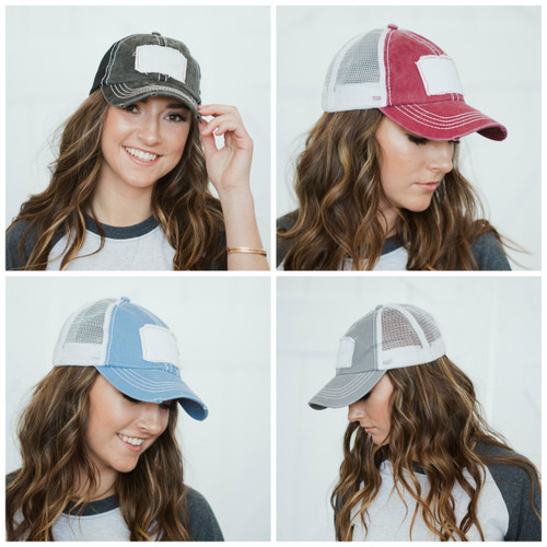 Patch Distressed Hat