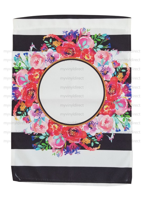 Floral & Stripes Garden Flag