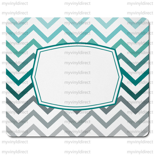 Chevron Teal Ombre Mouse Pad