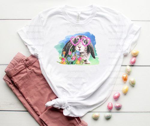 Glasses Bunny | Easter Cotton Transfer