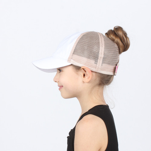 Girls Messy Bun Hat