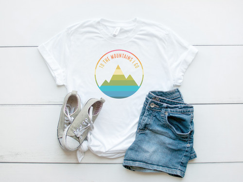 To The Mountains I Go | Sublimation Transfer