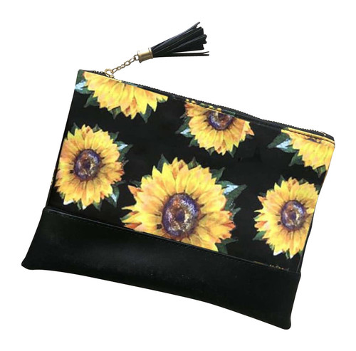 Sunflower Cosmetic Bag
